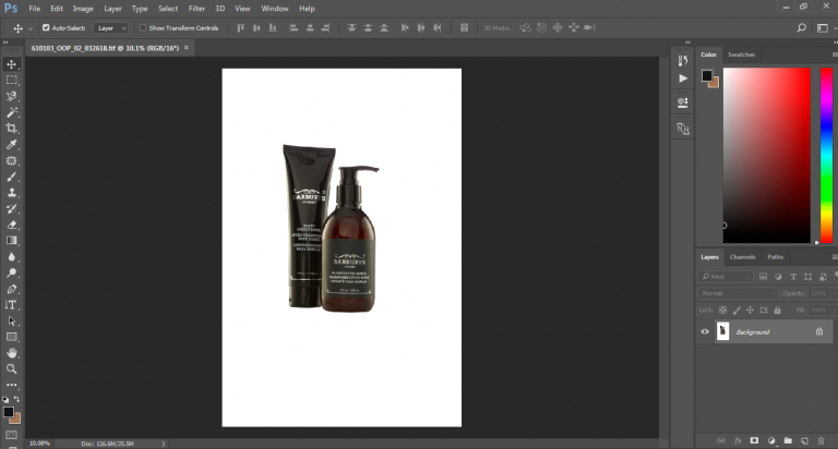 product shoot with white background